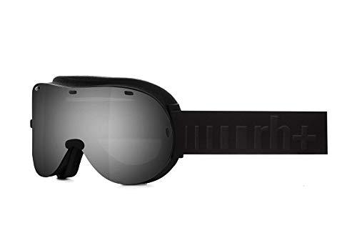 Zero Rh+ Titan Helmets & Goggles Snow Goggles Unisex – Erwachsene, Mattschwarz, Gläser: Ml Mirror Silver, One