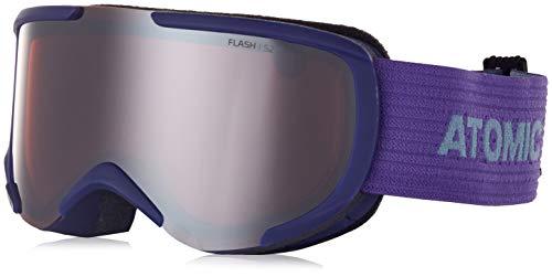 Atomic Unisex All Mountain-Skibrille Savor S, für mäßige Lichtverhältnisse, Small Fit, Live Fit-Rahmen, Violett/silber Flash, AN5105684