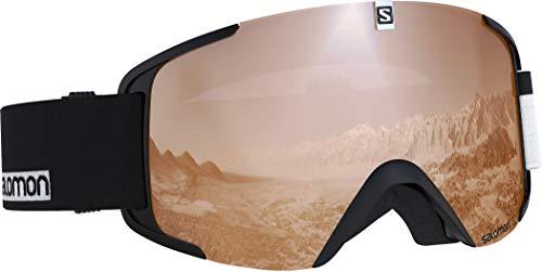 Salomon, Xview Access, Unisex-Skibrille, Schwarz-Weiß/Universal Tonic Orange, L40518600