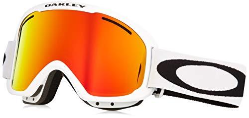 Oakley Frame 2.0 Pro Xm Ski Goggles, Unisex Erwachsene M Mehrfarbig (Matte White/fire Iridium/Persimmon)