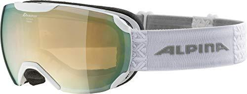 ALPINA Unisex - Erwachsene, PHEOS S Q-LITE Skibrille, white, One size