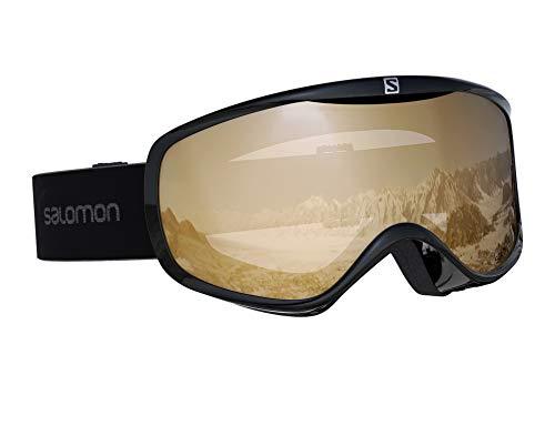 Salomon Damen-Skibrille Für verschiedenste Wetterverhältnisse, Airflow-System, SENSE ACCESS, Einheitsgröße, Schwarz/Universal Tonic Orange