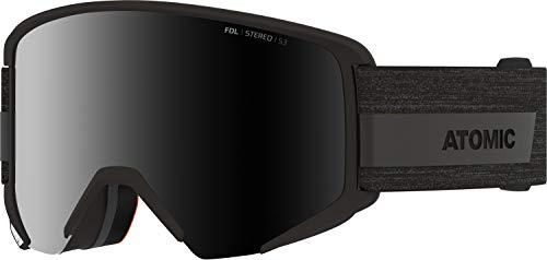 Atomic, All Mountain-Skibrille, Unisex, Für sonniges Wetter, Large Fit, Kompatibel mit Sehbrille, Savor Big Stereo, Schwarz/Schwarz Stereo, AN5105982