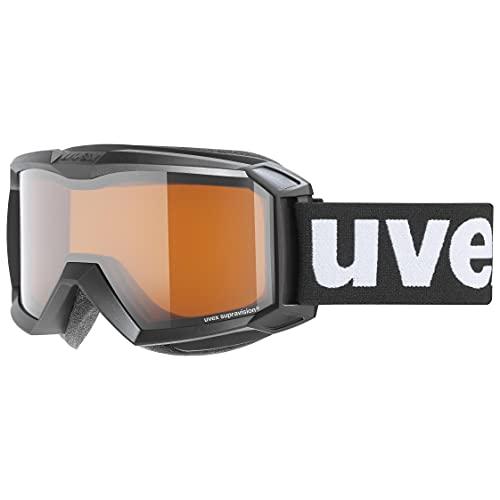 uvex Unisex Jugend, flizz LG Skibrille, black mat, one size