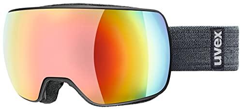 uvex Unisex– Erwachsene, compact FM Skibrille, black mat, one size