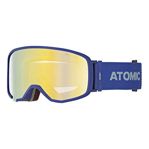 Atomic Unisex All Mountain-Skibrille Revent S FDL Stereo, für schwaches Licht, Small Fit, Live Fit-Rahmen, FDL-Doppelscheibe, Violett/pink-gelb, AN5105606