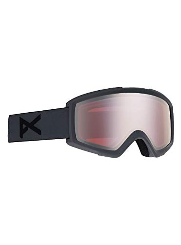Anon Herren Helix 2 with Spare Snowboardbrille, Stealth/Sonar Silver