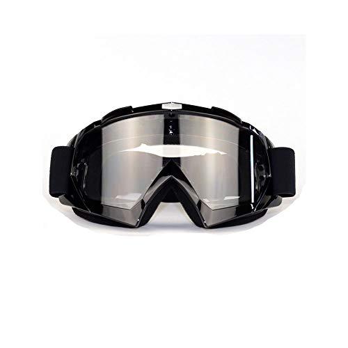 FALAMKA Motocross brille schwarz ,Skibrille, Anti-Fog- und Anti-Ultraviolett-Brille, biegbar mit einer doppellinsenverdickten Schaumstoffunterlage für Outdoor-Aktivitäten