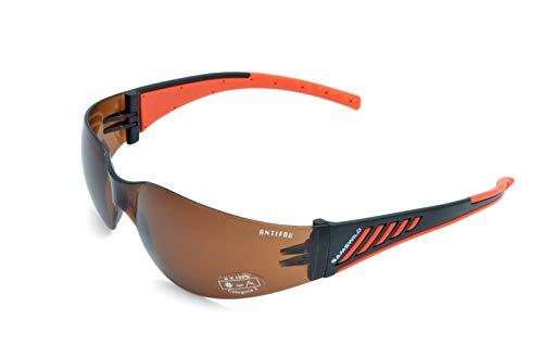Gamswild WS7122 Sonnenbrille Sportbrille ANTIFOG Skibrille Fahrradbrille Unisex   braun   gelb-orange   grau   transparent, Farbe: Braun