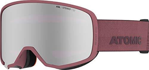 Atomic, All Mountain-Skibrille, Unisex, Für wolkiges bis sonniges Wetter, Large Fit, Kompatibel mit Sehbrille, Revent Stereo OTG, Violett/Silber Stereo, AN5106088