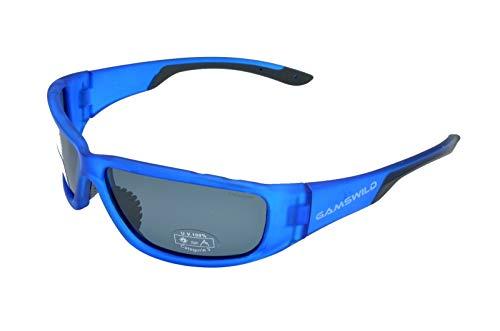 Gamswild Sonnenbrille WS9331 Sportbrille Skibrille Fahrradbrille Herren Damen Unisex   rot   blau   grün, Farbe: Blau