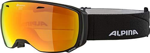 ALPINA ESTETICA Skibrille, Unisex– Erwachsene, black matt, one size