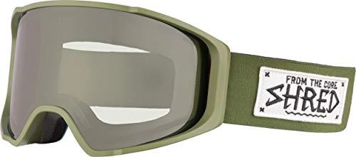 Shred Simplify Martial CBL Plus Bonus Lens Schneebrille Ski, Snowboard, Military Green, one Size