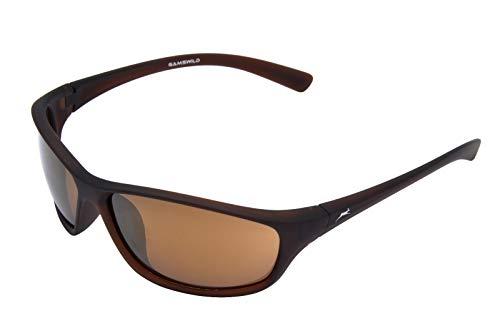 Gamswild WS6426 Sonnenbrille Sportbrille Skibrille Fahrradbrille Damen Herren Unisex   Glasfarbe: braun   grün   violett, Farbe: Braun