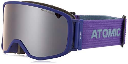 Atomic Unisex All Mountain-Skibrille Revent S FDL, für mäßige Lichtverhältnisse, Small Fit, Live Fit-Rahmen, FDL-Doppelscheibe, Violett/silber Flash, AN5105676