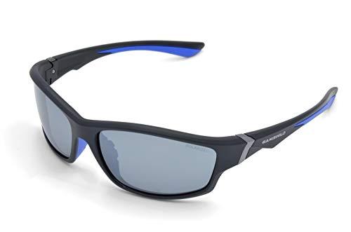 Gamswild WS6036 Sonnenbrille Sportbrille Skibrille Fahrradbrille Damen Herren Unisex | blau | lila | rot, Farbe: Schwarz / Blau /