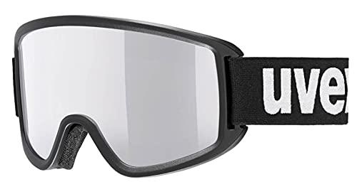 Uvex Unisex– Erwachsene Topic FM Skibrille, Black/Silver-lasergold lite, one Size