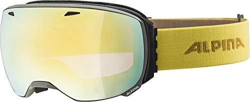 ALPINA Unisex - Erwachsene, BIG HORN Q-LITE Skibrille, grey-curry, One size