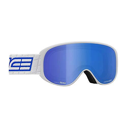 Salice 100TECH Skibrille SR Weiß-Blau Lente Tech S2-S4 Unisex Erwachsene Beschreibung Montatatat:Weiß, UNICA