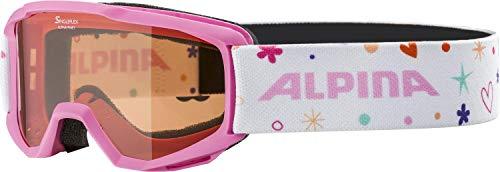 ALPINA Unisex - Kinder, PINEY Skibrille, rose-rose, One size