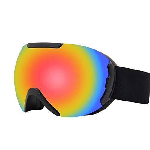 Skibrille für Erwachsene, neueste Skibrillen Snowboardbrillen für Erwachsene Winddichtes Anti-Fog Anti-Glare UV-Schutz-Doppelobjektiv für Erwachsene Professionelle Snowmobile Skate Skifahren,Rot