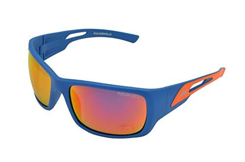Gamswild WS8132 Sonnenbrille Sportbrille Skibrille Damen Herren Fahrradbrille | rot-orange | grün | pink, Farbe: Rot Orange