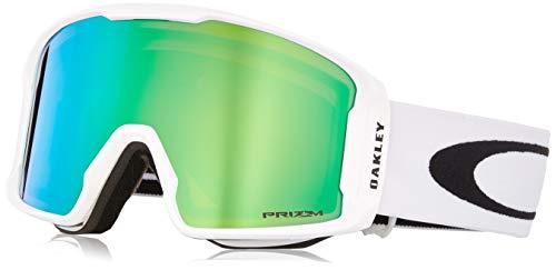 Oakley Herren Lineminer 707014 0 Sportbrille, Weiß (Matte White/Prizmgogglejadeirid), 99