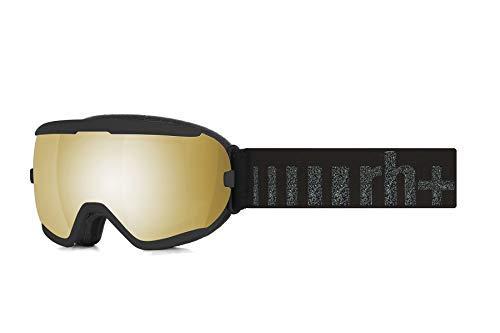 Zero RH+ Juno Helmets & Goggles Snow Goggles Unisex - Erwachsene, Shiny Black, Gläser: Ml Flash Gold, Einheitsgröße