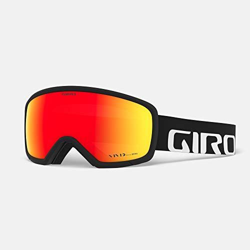 Giro Snow Unisex– Erwachsene Ringo Skibrille, Black Wordmark Vivid Ember, Einheitsgröße