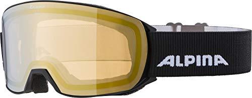 ALPINA Unisex - Erwachsene, NAKISKA Q-LITE Skibrille, black, One size