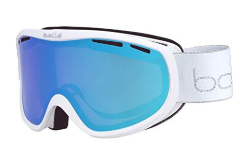 Bollé Unisex-Erwachsene Sierra Skibrillen, White & Silver Shiny, Small Medium