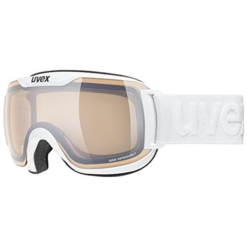 uvex Unisex– Erwachsene, downhill 2000 S V Skibrille, white, one size