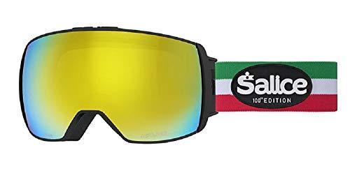Salice 605ITAED Skibrille SR + Sonar Schwarz Italien Doppelte Anti-Fog Rainbow Gelb Unisex Erwachsene, Einzigartig