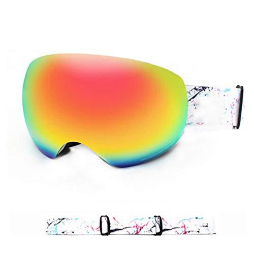 Damen Herren Snowboardbrillen Paar im Freien im Winter Ski-Brille Anti-Fog-Skibrillen Niseko Song Ski