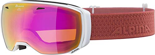 ALPINA ESTETICA Skibrille, Unisex– Erwachsene, white-coral, one size