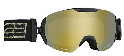 Salice 604DARWF Skibrille, Schwarz Rw/Gold, M
