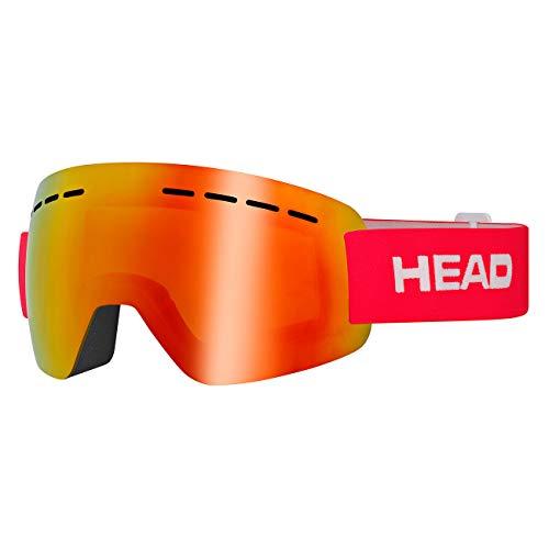 HEAD Unisex– Erwachsene SOLAR Skibrille, FMR rot, M