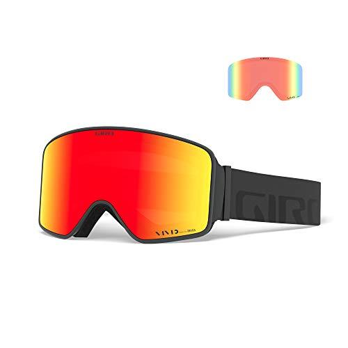 Giro Snow Unisex– Erwachsene Method Skibrille, Grey Wordmark Vivid Ember/Vivid Infrared, Einheitsgröße