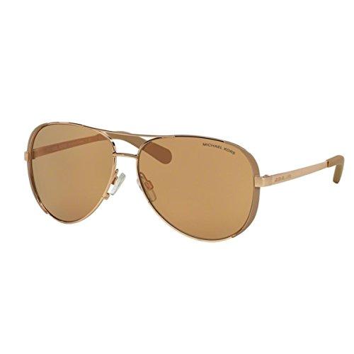 Michael Kors Damen Chelsea MK5004 Sonnenbrille, Rosa (roségold/Taupe-roségold 1017R1), Large (Herstellergröße: 59)