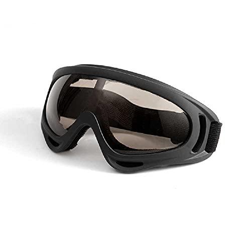 N\C Langlaufbrille Staub- Und Spritzwassergeschützte Brille Grenzüberschreitende Motorradfahrbrille Skibrille Maske Braune Folie mit schwarzem Rahmen