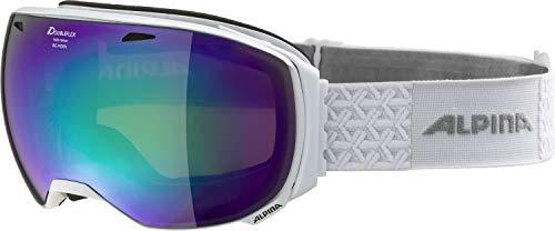 ALPINA Unisex - Erwachsene, BIG HORN MM Skibrille, white, One size