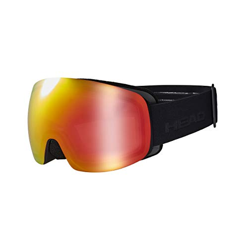 HEAD Unisex-Adult Galactic FMR Skibrille, gelb/rot, One Size