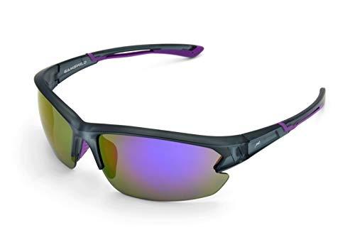 Gamswild WS6028 Sonnenbrille Sportbrille Skibrille Fahrradbrille Herren Damen Unisex | blau | rot-orange | violett, Farbe: violett