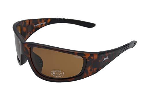 Gamswild WS9131 Sonnenbrille Sportbrille Skibrille Fahrradbrille Damen Herren Unisex | schwarz | braun | grau-transparent, Farbe: Braun