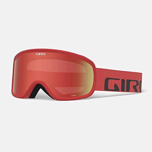 Giro Unisex-Adult Cruz Skibrille, red Wordmark, M