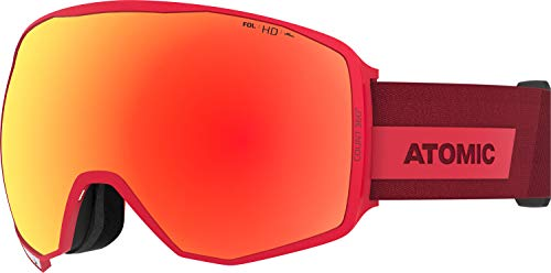 Atomic, All Mountain-Skibrille, Unisex, Für wolkiges bis sonniges Wetter, Large Fit, HD-Technologie, Count 360° HD, Rot/Rot HD, AN5106018