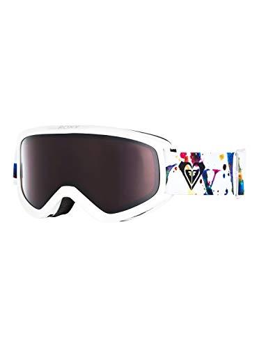 Roxy Damen Day Dream-Snowboard-/Skibrille für Frauen, Bright White Magic Carpet, 1SZ