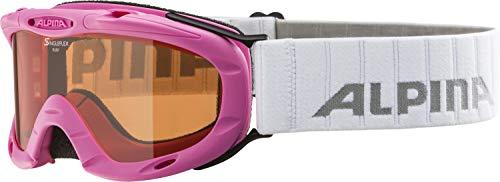 Alpina Kinder Skibrille Ruby S, Rahmenfarbe: Rose, Linsenfarbe: Slh S1, One size, 7050458