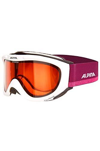 ALPINA Skibrille Freespirit DH, White-violett, OneSize