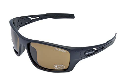 Gamswild WS8636 Sonnenbrille Sportbrille Skibrille Damen Herren Fahrradbrille Unisex | blau | grün-türkis | braun, Farbe: Braun